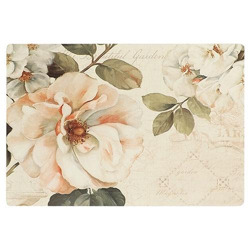 Placa Decorativa Flor Magnólia Média em Metal - 30x20cm