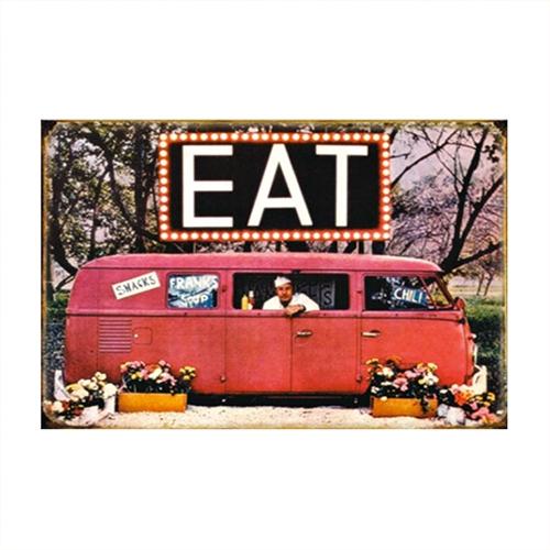 Placa Decorativa Food Truck Média em Metal - 30x20 cm