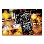 Placa Decorativa Garrafa Whisky Jack Daniels Média em Metal - 30x20 cm