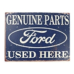 Placa Decorativa Genuine Parts Ford Média em Metal - 30x20cm