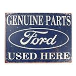 Placa Decorativa Genuine Parts Ford Média