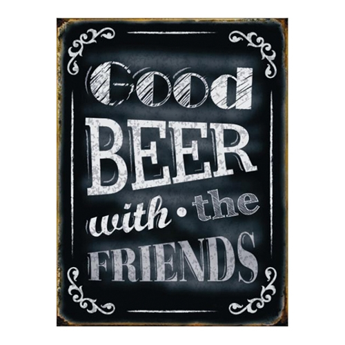 Placa Decorativa Good Beer Média em Metal - 30x20 cm