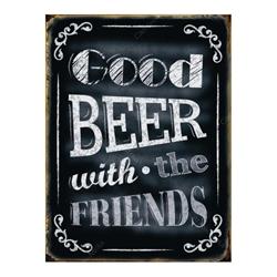 Placa Decorativa Good Beer Média em Metal