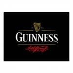 Placa Decorativa Guinness Atual Média em Metal - 30x20 cm