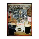 Placa Decorativa Guinness Over 250 Grande em Metal - 40x30cm