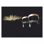 Placa Decorativa Guinness Preta Média em Metal - 30x20 cm