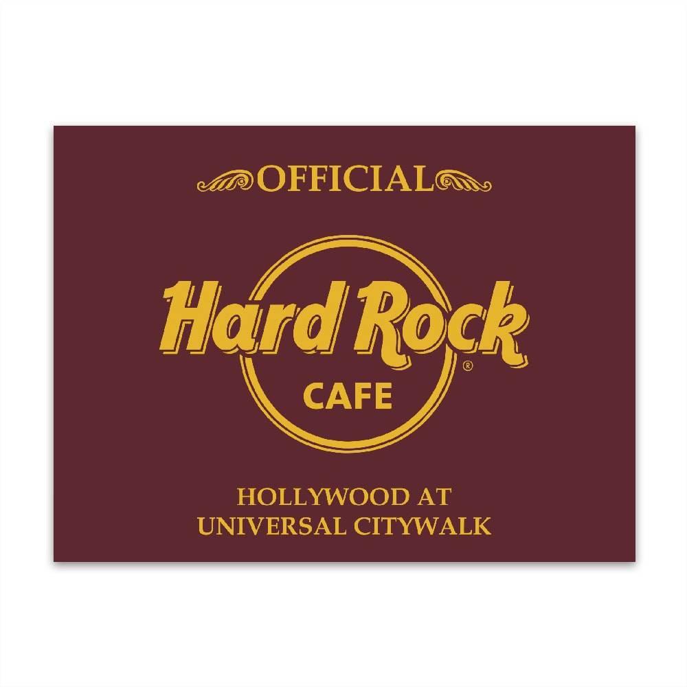 Placa Decorativa Hard Rock Café Média em Metal - 30x20 cm