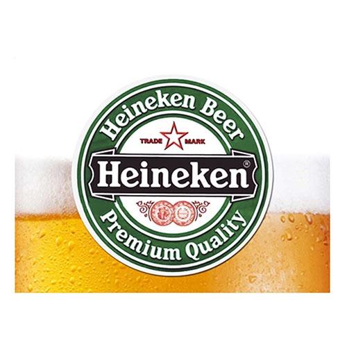 Placa Decorativa Heineken Chopp Grande em Metal - 40x30cm