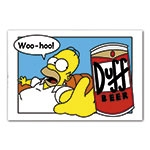 Placa Decorativa Homer Simpson Cerveja Duff Grande - 40x30cm