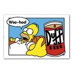 Placa Decorativa Homer Simpson Cerveja Duff Média em Metal - 30x20cm