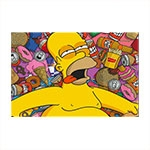 Placa Decorativa Homer Simpson Grande em Metal - 40x30 cm