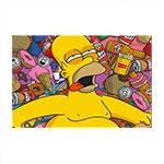 Placa Decorativa Homer Simpson Média em Metal - 30x20 cm