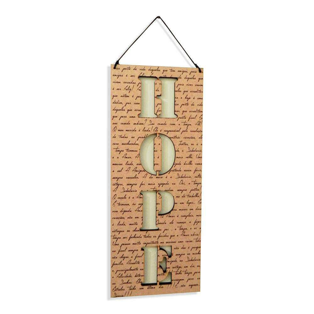 Placa Decorativa Hope