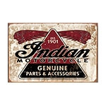 Placa Decorativa Indian Motorcycle Grande em Metal - 40x30 cm