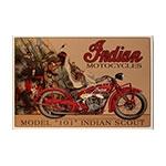 Placa Decorativa Indian Scout Model 101 Grande em Metal
