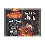 Placa Decorativa Jack Daniels Just Ask Grande em Metal - 40x30cm