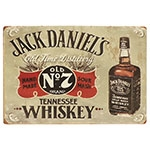 Placa Decorativa Jack Daniels Old Time Distillery Média em Metal - 30x20cm