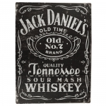 Placa Decorativa Jack Daniels Tennessee Whiskey Média em Metal - 30x20cm