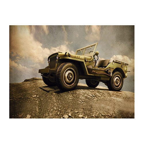 Placa Decorativa Jeep Montanha Grande em Metal - 40x30cm
