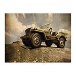 Placa Decorativa Jeep Montanha Média em Metal - 30x20cm