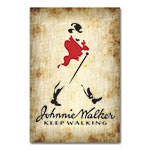 Placa Decorativa Johnnie Walker Média em Metal- 30x20 cm