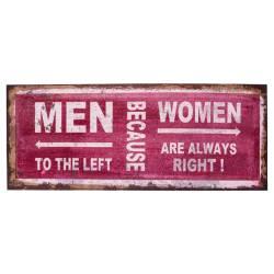 Placa Decorativa Juta Men X Women Bordô em Canvas R$ 179,98 R$ 119,98 2x de R$ 59,99 sem juros