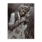 Placa Decorativa Keith Richards Grande em Metal - 40x30 cm