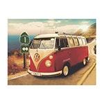 Placa Decorativa Kombi Califórnia Grande em Metal - 40x30cm