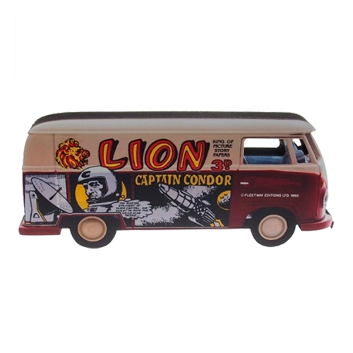 Placa Decorativa Kombi Lion e Madeira - 30x13 cm