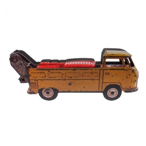 Placa Decorativa Kombi Truck em Madeira - 30x12 cm