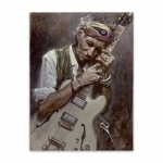 Placa Decorativa Keith Richards Média em Metal - 30x20 cm
