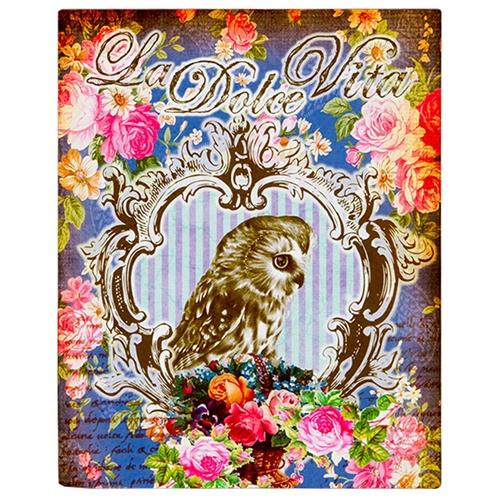 Placa Decorativa La Dolce Vita em Metal - 28x22 cm