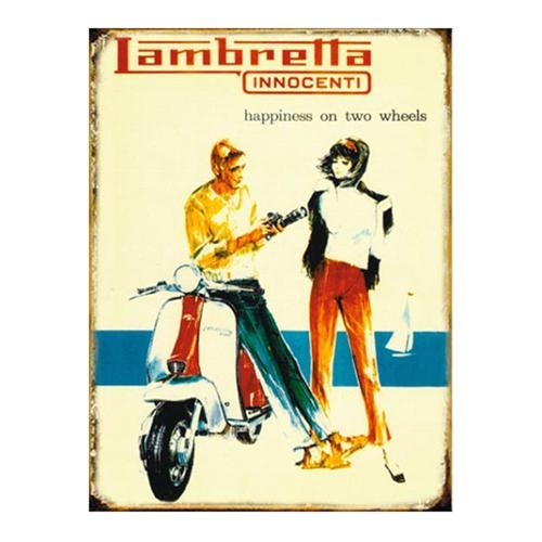 Placa Decorativa Lambretta Grande em Metal -  40x30 cm