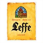 Placa Decorativa Leffe Média em Metal - 30x20 cm