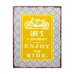 Placa Decorativa Life´s A Journey Enjoy The Ride