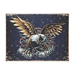 Placa Decorativa Live To Ride Grande em Metal - 40x30cm