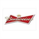Placa Decorativa Logo Budweiser Média em Metal - 30x20 cm