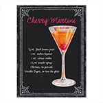 Placa Decorativa Martini Grande em Metal -  40x30 cm
