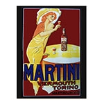 Placa Decorativa Martini Grande em Metal - 40x30cm