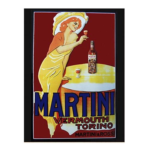 Placa Decorativa Martini Grande em Metal - 40x30cm