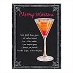 Placa Decorativa Martini Média em Metal - 30x20 cm