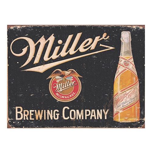 Placa Decorativa Miller Brewing Company Média em Metal - 30x20cm