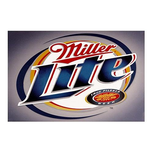Placa Decorativa Miller Lite Média em Metal - 30x20cm