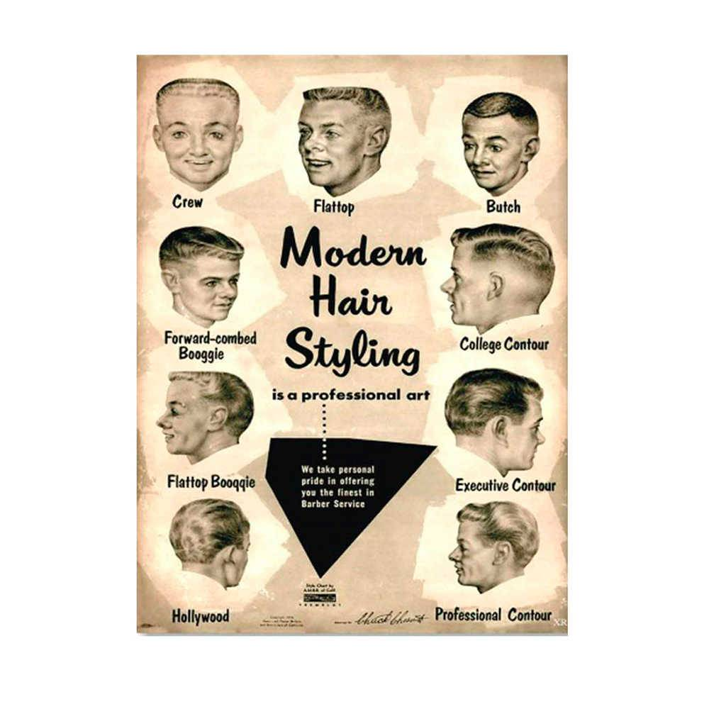 Placa Decorativa Modern Hair