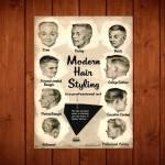 Placa Decorativa Modern Hair com Impressão Digital em Metal - 40x30 cm