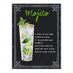 Placa Decorativa Mojito Grande em Metal -  40x30 cm
