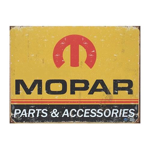 Placa Decorativa Mopar Parts Grande em Metal - 40x30cm