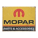 Placa Decorativa Mopar Parts Grande em Metal - 40x30cm