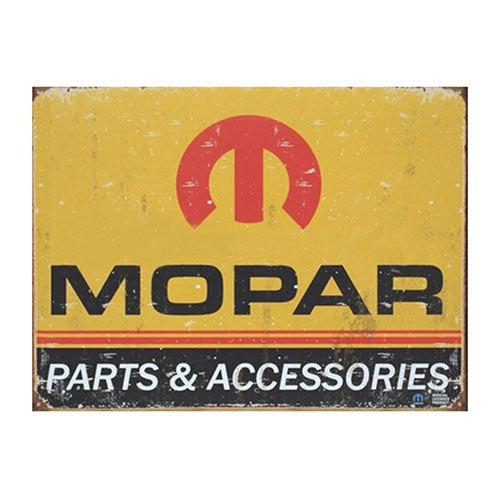 Placa Decorativa Mopar Parts Média em Metal - 30x20cm