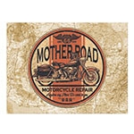 Placa Decorativa Mother Road Grande em Metal - 40x30cm